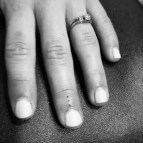 handpoked tattoo, handpoking, handpoked, finger tattoo, dots tattoo, small tattoo, hand tattoo, dots