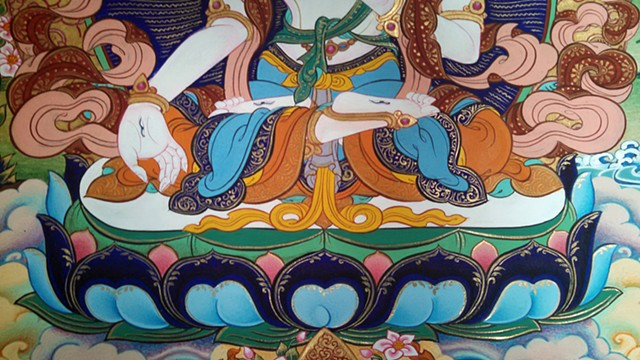 traditional, tibetan painting, thangka painting, tibetan art, Buddhist art, Buddhist Painting, White Tara, White Tara Thangka