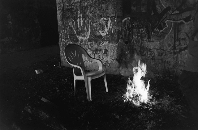 photography black white battery steel fort abandoned industrial chair fire