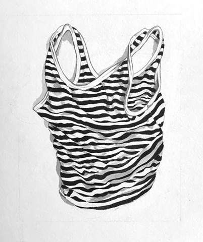 Katie's striped tank top