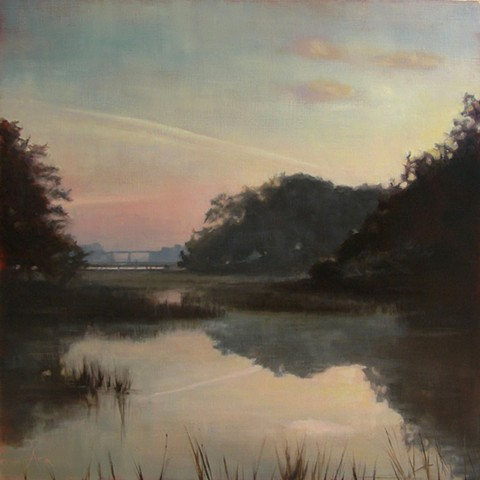 landscape painting of Charleston