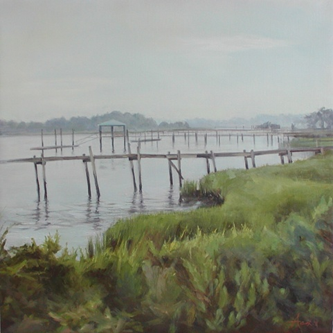 Evening Haze: Old Docks - SOLD