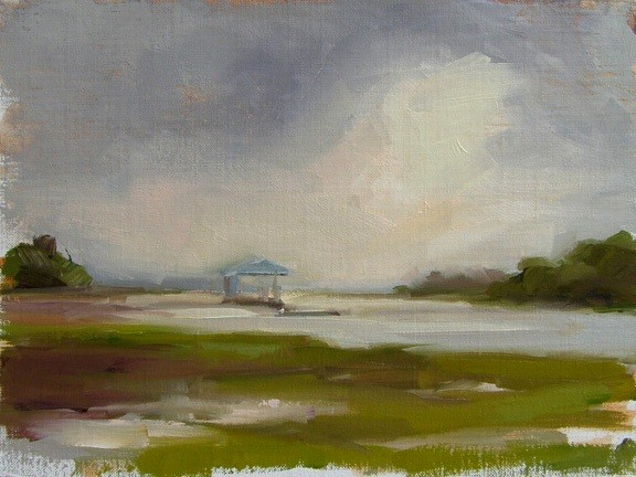 Morning Study at Boat Landing - SOLD