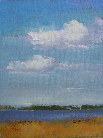 Clouds over the Cooper - SOLD