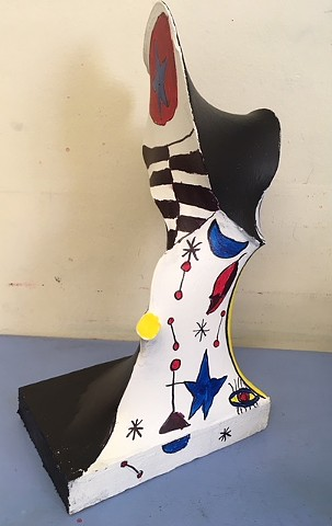 Free form sculptures inspired by artist Miro