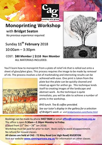 Monoprinting Workshop