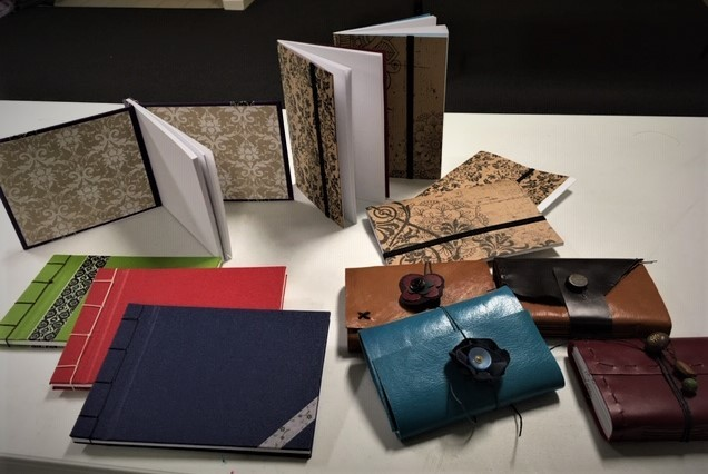 Books made in one of my afternoon workshops.