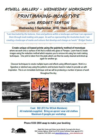 Printmaking - Monotype WORKSHOP