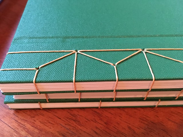 Example of hemp leaf binding