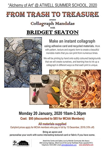 Collographs - printing workshop