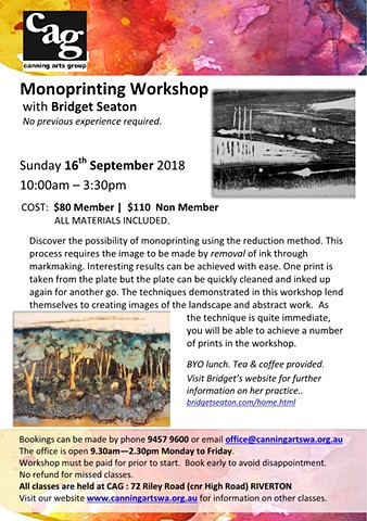 Monotype Printing Workshop
