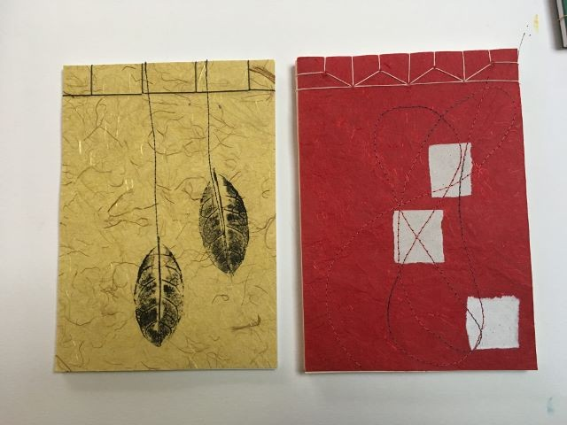 Japanese stab books.Note pads. Simple stab binding and hemp leaf binding.