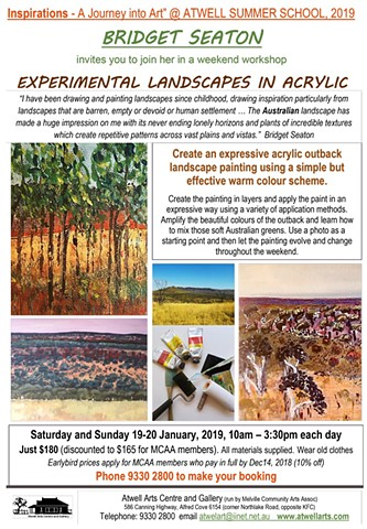 Experimental Landscapes in Acrylic Workshop Summer School 2019 - Atwell Arts Centre