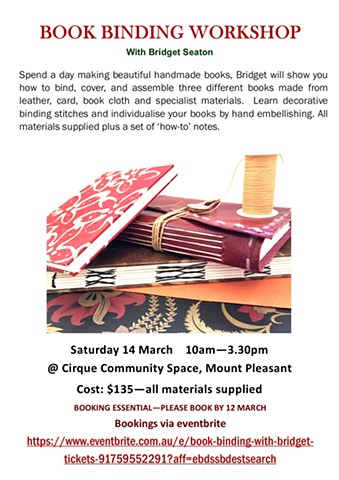 Bookbinding with Bridget Workshop