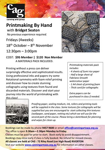 printmaking classes perth
