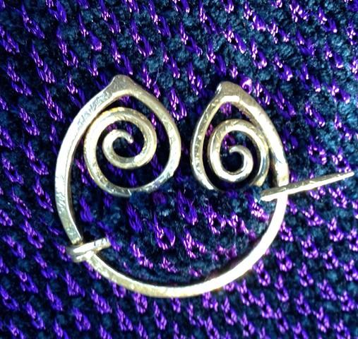 Handmade Bronze Penannular Pin