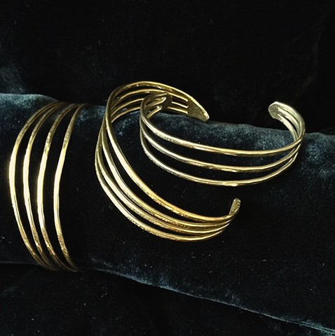 Elegant Bronze or Nickel Cuff Bracelet