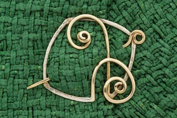 Bronze Shawl Pin