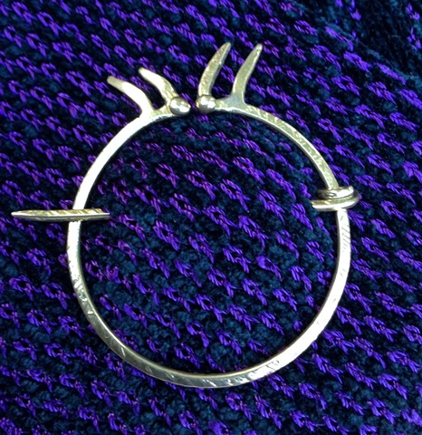 Forged bronze Penannular pin