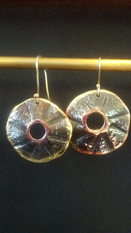 Forged Metal Earrings