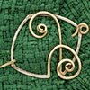 Bronze and Nickel Shawl Pin
