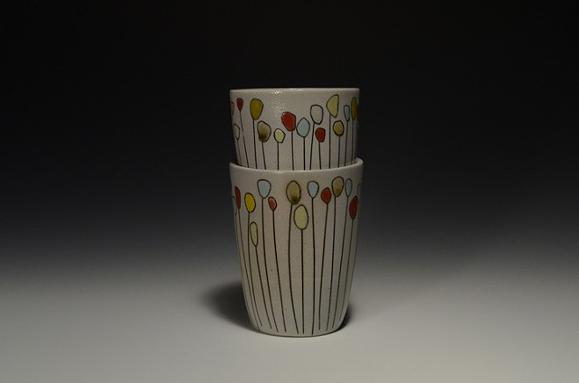 A Pair of Flower Cups