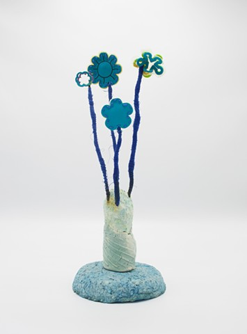 Blue Foam Flower Bouquet