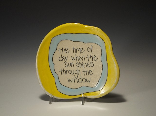 The Time of Day When The Sun Shines Through the Window Appreciation Plate