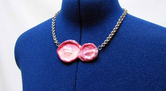 Pink Paper Pendant