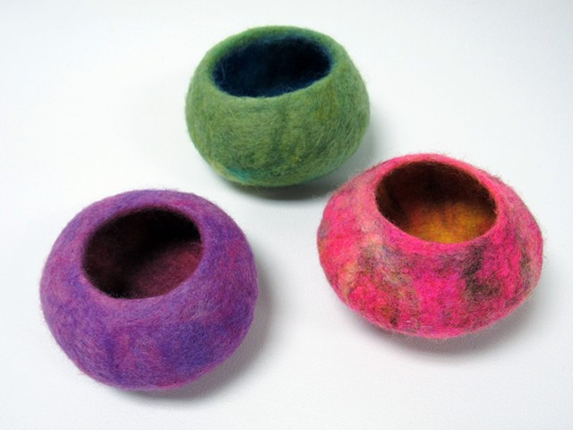 Set of Felted Bowls