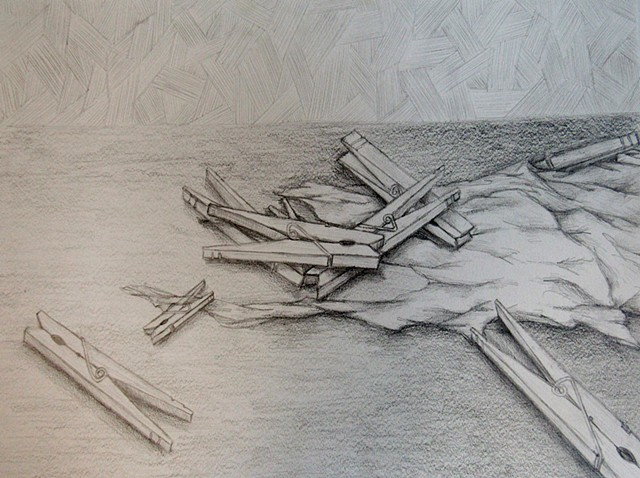Foundations of Art I Observational Drawing Clothespins and Scale