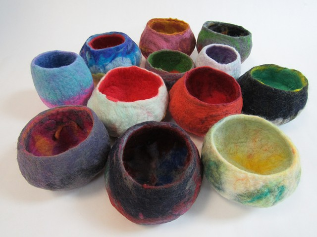 Foundations II Resist Felting Bowls