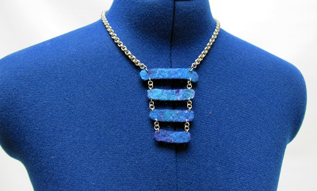 Blue Stacked Nuno Necklace