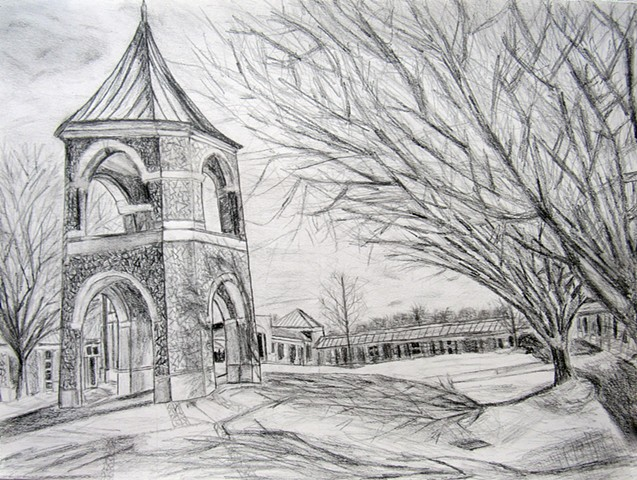 Foundations of Art II  Observational Drawing Architectural Landscape