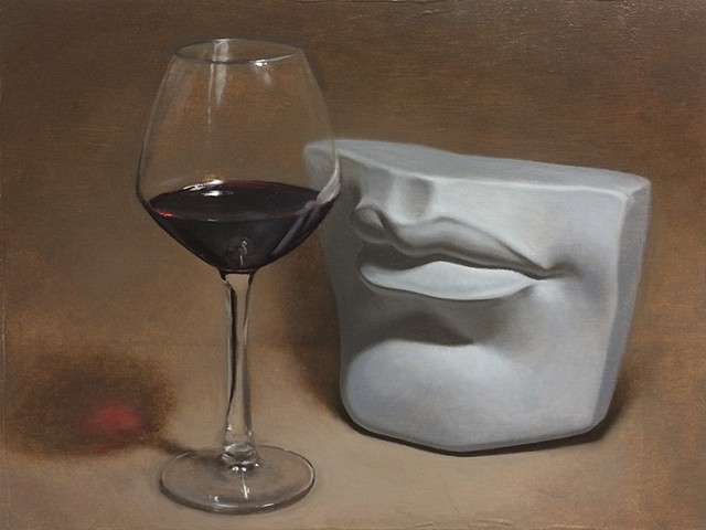 Mouth with Wine