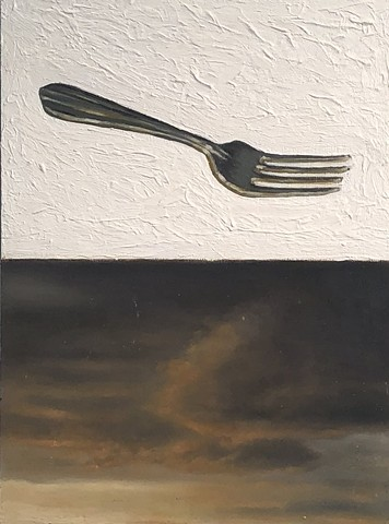 Fork and the clouds