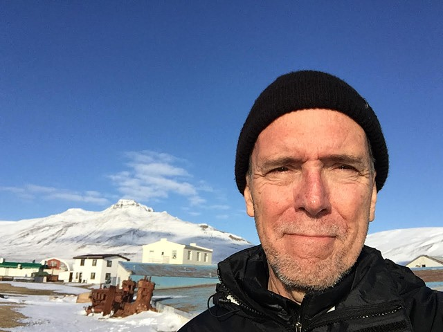 Photograph of the artist in Skagastrond, Iceland April 2017