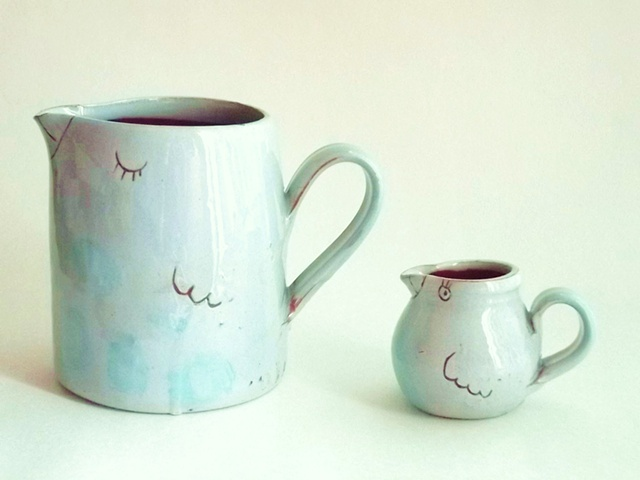 More Bird jugs