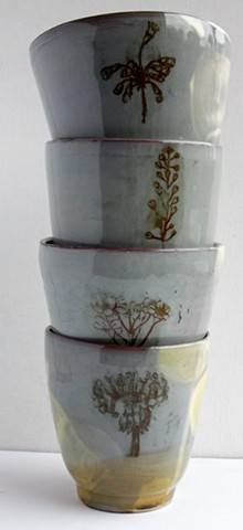 tumblers or pots for small plants