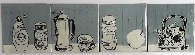 715. Kitchen tiles 14x14 cm each