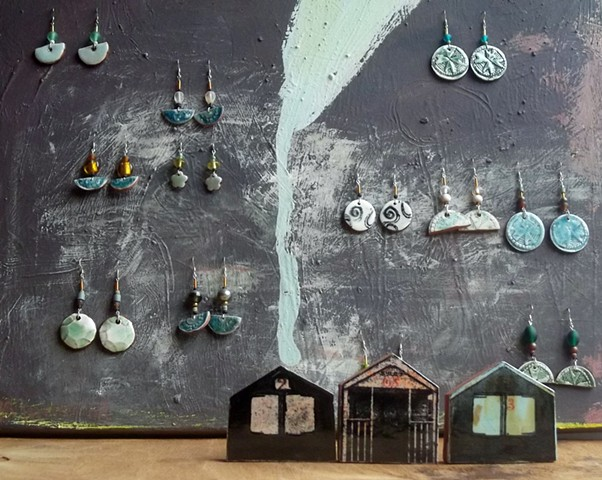 Earrings and beach huts