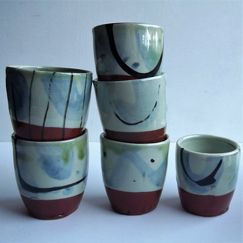 winter colours small beakers