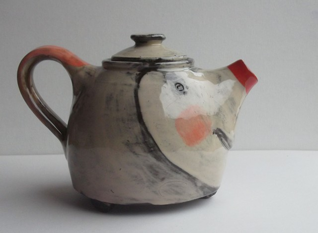 50. red nosed teapot