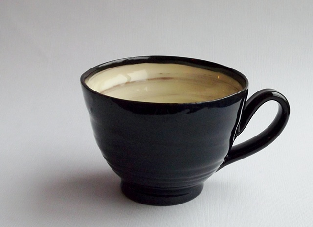 blueblack and white cup