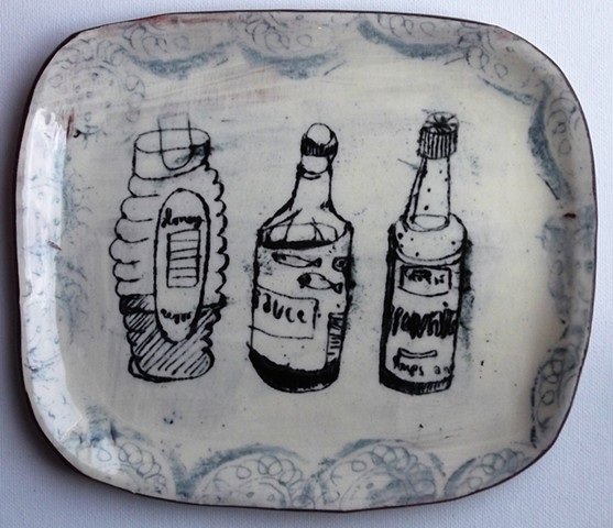 93. Bottles on a plate