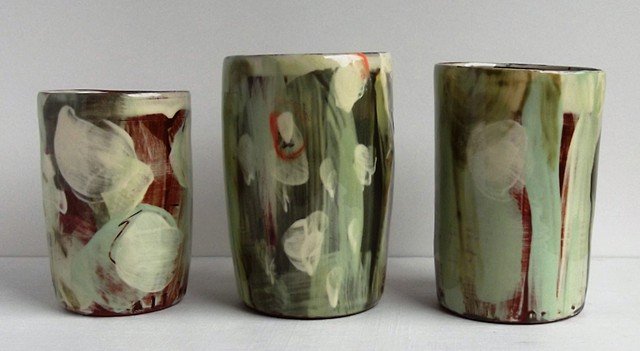 708. three small vases
