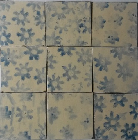 cream and cobolt tiles