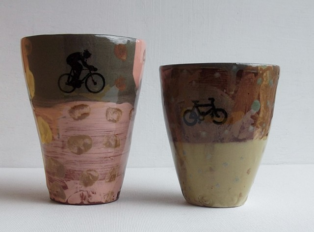 Beakers with bikes