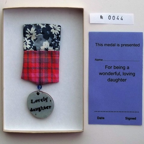 Lovely daughter medal