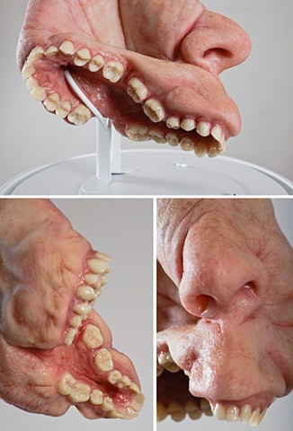 Silicone and Acrylic lifelike sculpture.